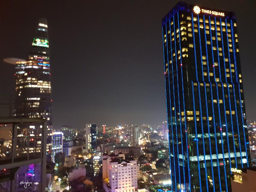 #skyline #night #city #saigonvietnam  #freetoedit