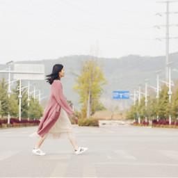 walking walk girl freetoedit