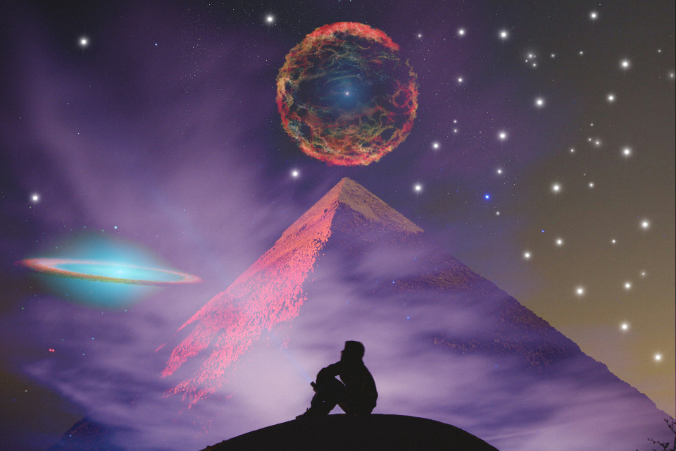 #freetoedit #egypt #galaxy #supernova #pyramide #stars #nightsky