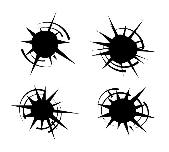 Bullet Hole Set  #bullethole #bulletholeset #hole #whitebackground  #freetoedit #remixme #picsartpassion_de #fte #@xxba666xx