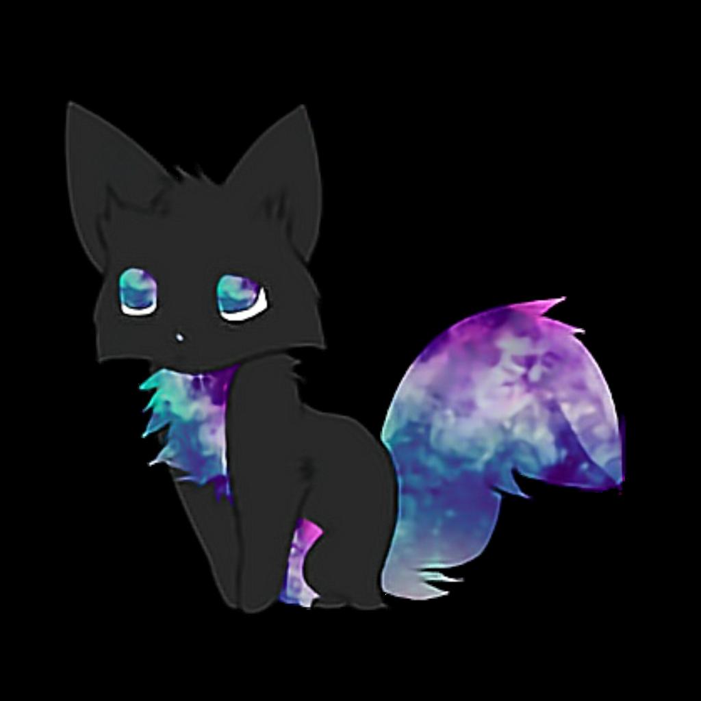 galaxy cat anime cute sticker by monn