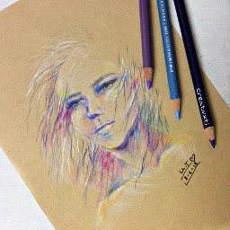 art drawing experiment prismacolor noreference