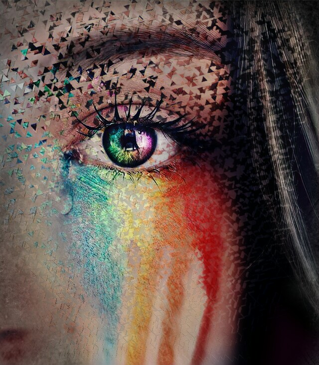 "#ecidontfeelsogoodmeme ""The Break in the Rainbow""Edit by: Parietal Imagination ArtSECOND PLACE ""DONT FEEL SO GOOD"" MEME CHALLENGE ??#dispersion #eye"