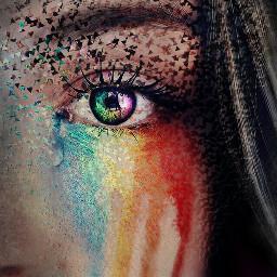 freetoedit ecidontfeelsogoodmeme dispersion eye rainbow