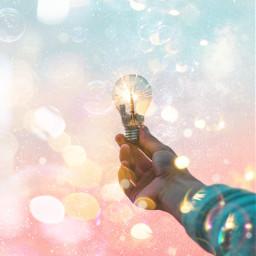 freetoedit sparkle dream hand tokyo irclightbulb