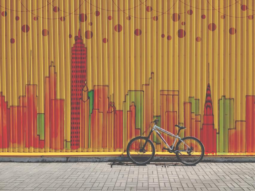 #freetoedit #bike #travel #art #citywalker #shadow #myedit #justforfun #remix