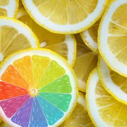 freetoedit lemon rainbow