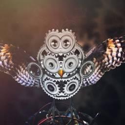 freetoedit owl gears steampunk