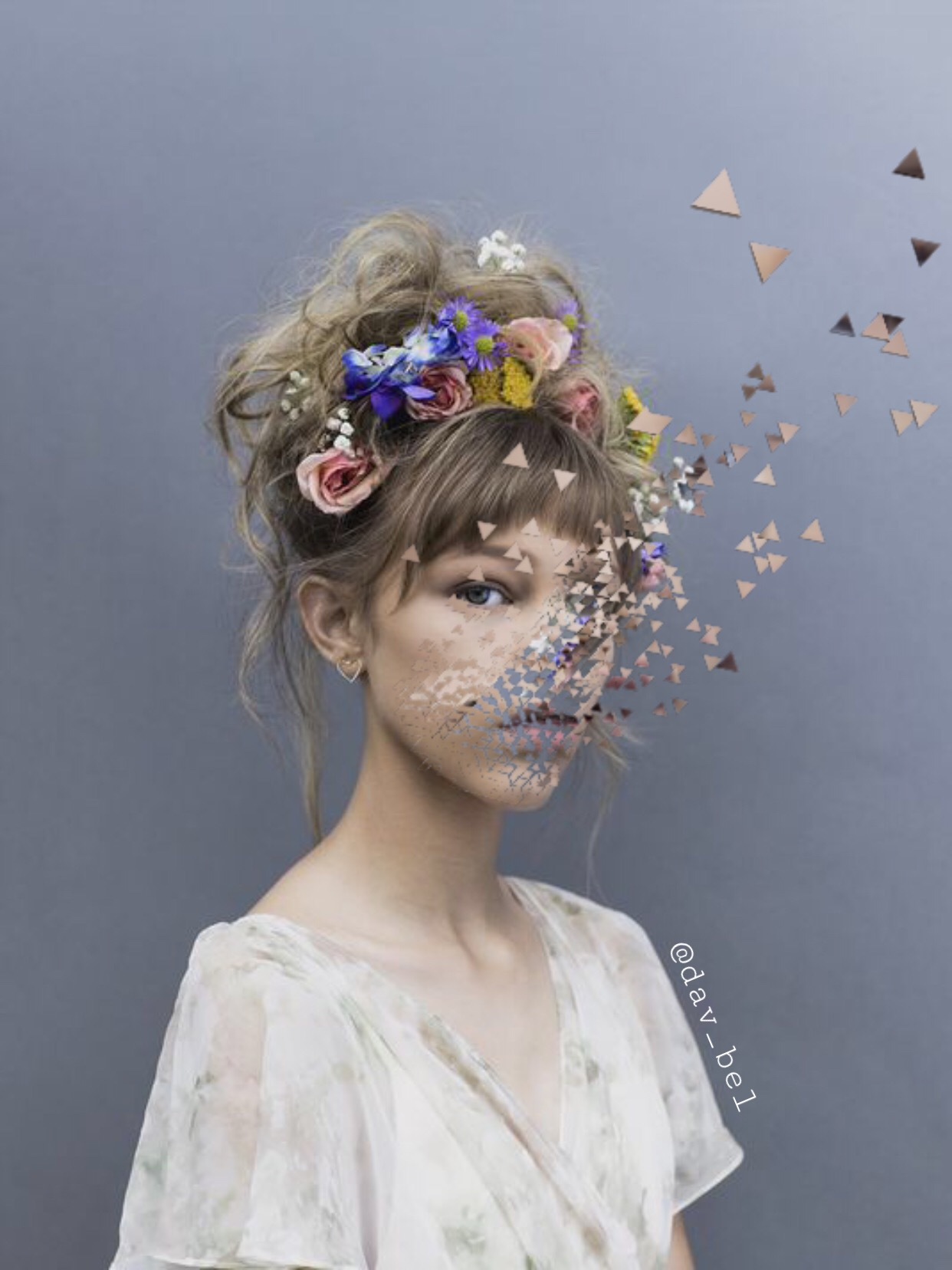 #freetoedit #dispersion #gracevanderwaal #girl #flowers