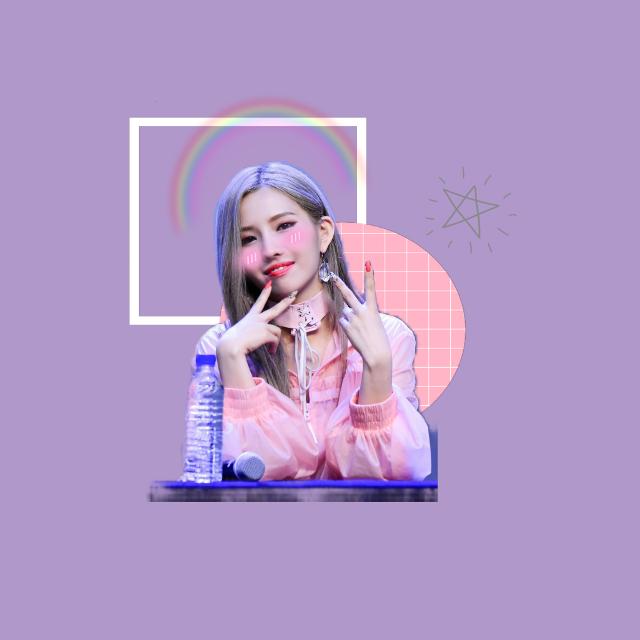 (G)I-DLE #FreeToEdit #idle #soyeonidle #soyeon #idle #kpop #purple #circle #square #rainbow #stra