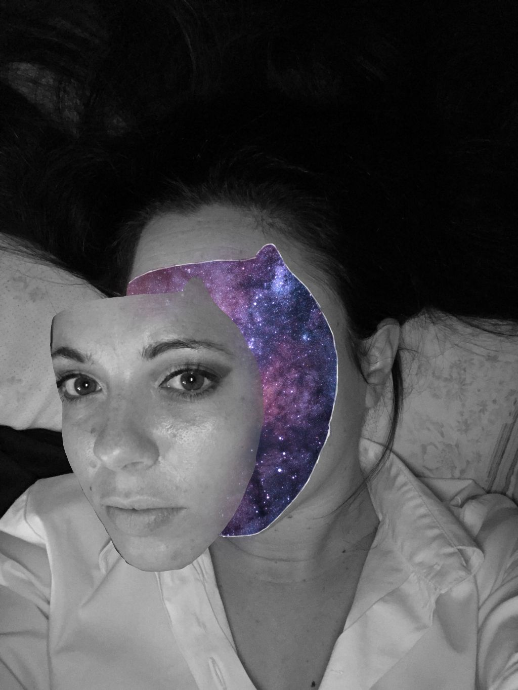 #freetoedit #galaxymagiceffect #facemask #galaxy #blackandwhite