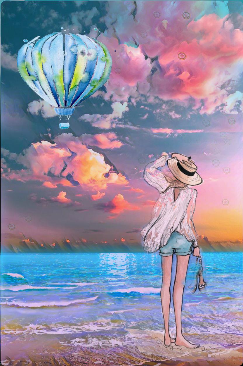 #freetoedit #sea #clouds #beach #woman #beautiful #colorful   #postereffect  #pastelmagiceffect #adjusttools #drawtools #layersonlayers #stickers #myedit #madewithpicsart