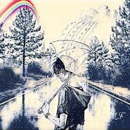 freetoedit remixit boy rain umberella