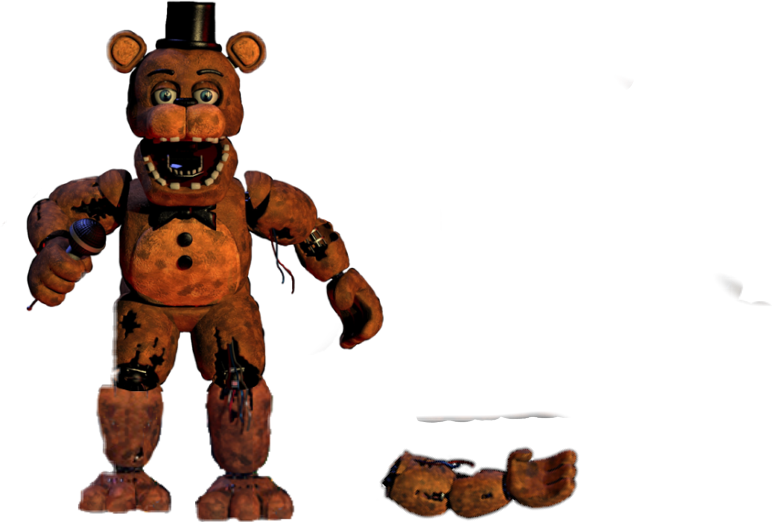 withered freddy with extra arm - Sticker by Jaron