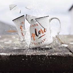 irctravelmug travelmug freetoedit cup broken