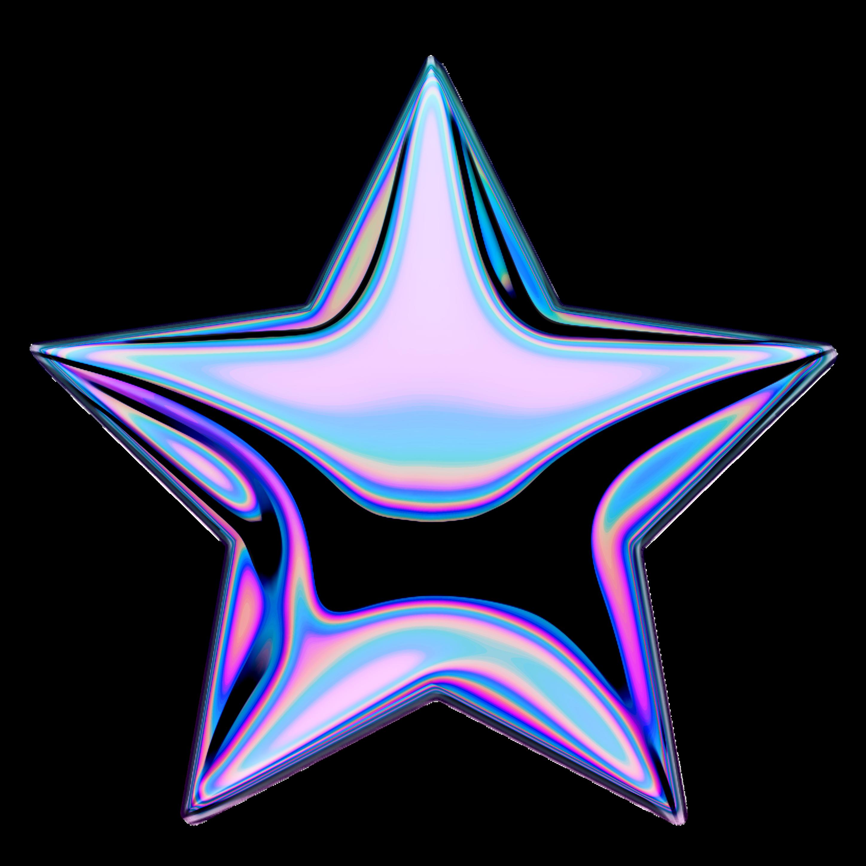 holo holographic shootingstar stars star emoji iridesce...