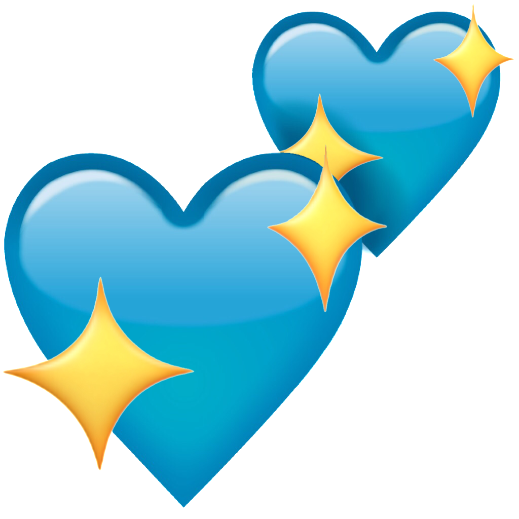 heart emoji blueheart blue sparkle sparklingheart heart...