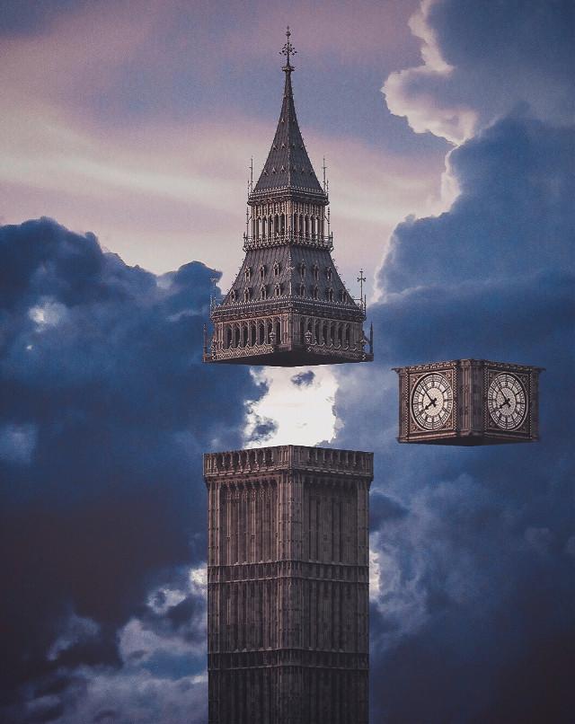 Big ben        #freetoedit #london #bigben #england #clouds #sunset #clock #tower