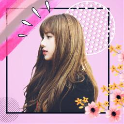 freetoedit pink flowers kpop korean