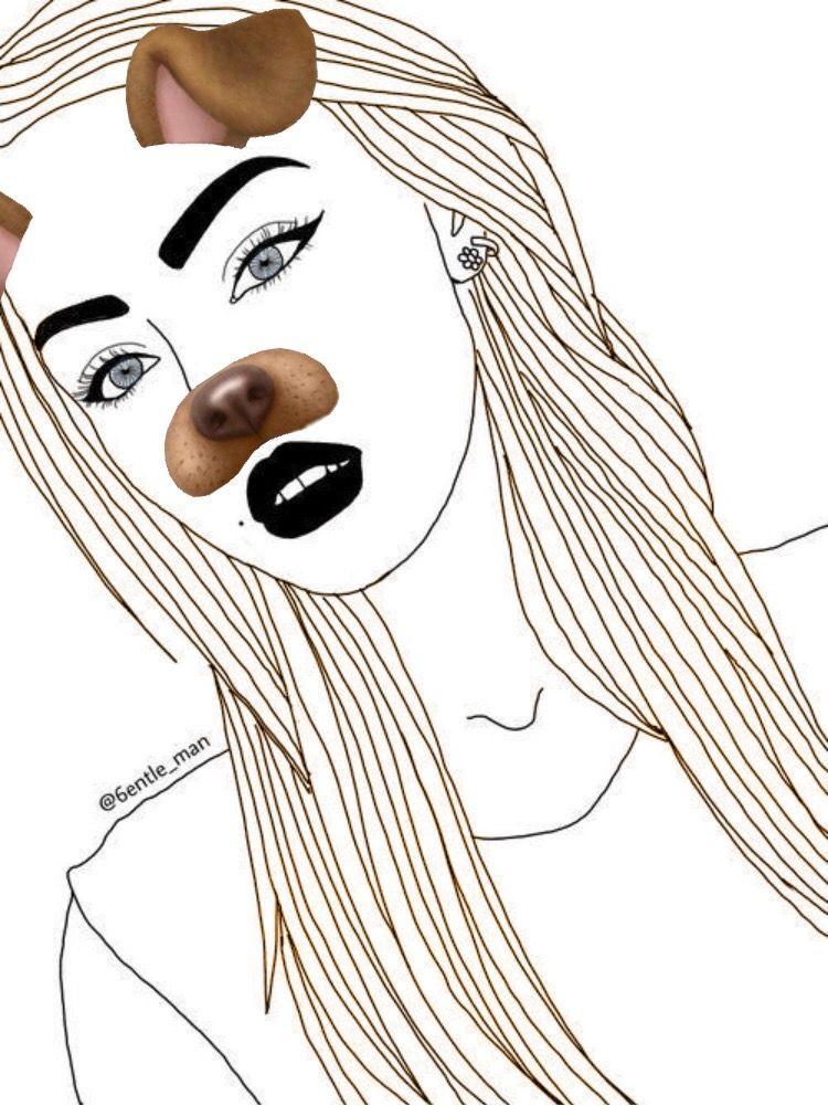 Freetoedit Tumblr Drawing Snapchat Dogfilter Remixit