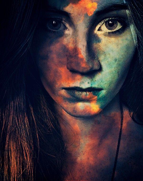 #freetoedit #woman #doubleexposure #art #color #surreal #draw #eyes #picsart