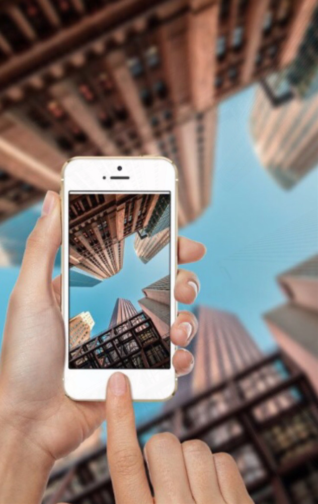 #freetoedit #photography #phone #hands #sky #city #buildings