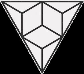 triangle white shape geometric geometrical freetoedit