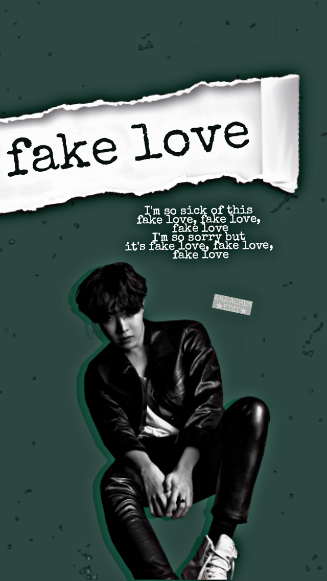 Huhuhu...feeling bored when I can't post any of my edit 😢 by the way,tomorrow is my last day to post an edit before hiatus 😩 so yahh today I wanna share you an edit of uri hobie.That's wallpaper version...  By the way~~~~  Did yall see the new bts song?? Fake love.Yes I love it so much.Thanks to bighit for a great and wonderful bts comeback.Hahahaahah I had stream their mv for a 9 to 10 times at the youtube and vlive.You all when??already???...Heheheheheh...  -©- ★lyrics - fake love by bts  -❤-  #freetoedit #jhope #junghoseok #bts #edit #textureeffect #loveyourself #fakelove