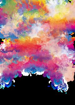 freetoedit watercolor handpainted colorsplash smoke