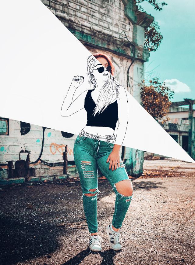 #freetoedit #draw #woman #sketch #picsart_tutorial #remixed #remixit #remixme