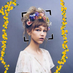 gracevanderwall flowers yellow stickers edit freetoedit