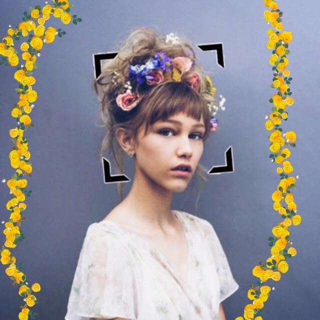 Im mot sure about this one 🦄🦄 #GraceVanderwall #flowers #yellow #stickers #edit #cute #love @emmmaaaaaaaa