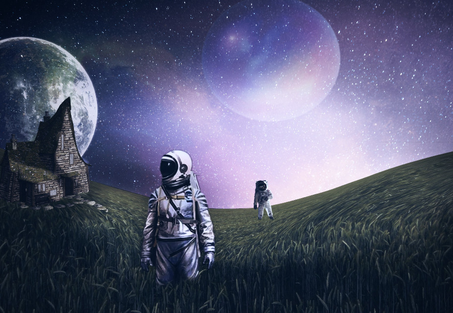 Outer Space  #outerspace #galaxy #madewithpicsart #space #planet #astronaut #surreal #surrealism