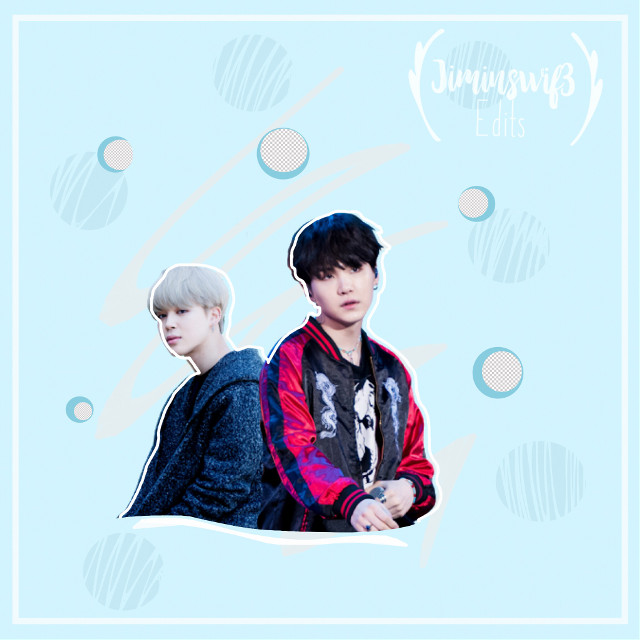 Yoonmin edit~                  #yoonmin #btsjimin #btssuga #btsyoongi #minyoongi #minsuga #parkjimin #mochi #chimchim #bangtansonyeondan #blue #pastelcolors #circles #cutedit #yoonminedit