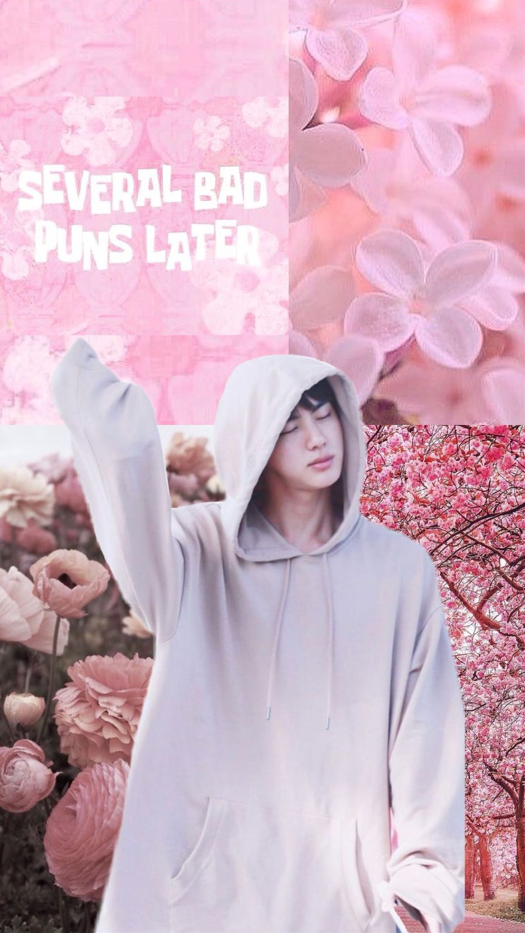 Freetoedit Pink Jin Kim Seokjin Wallpaper Kpop Bts Bts