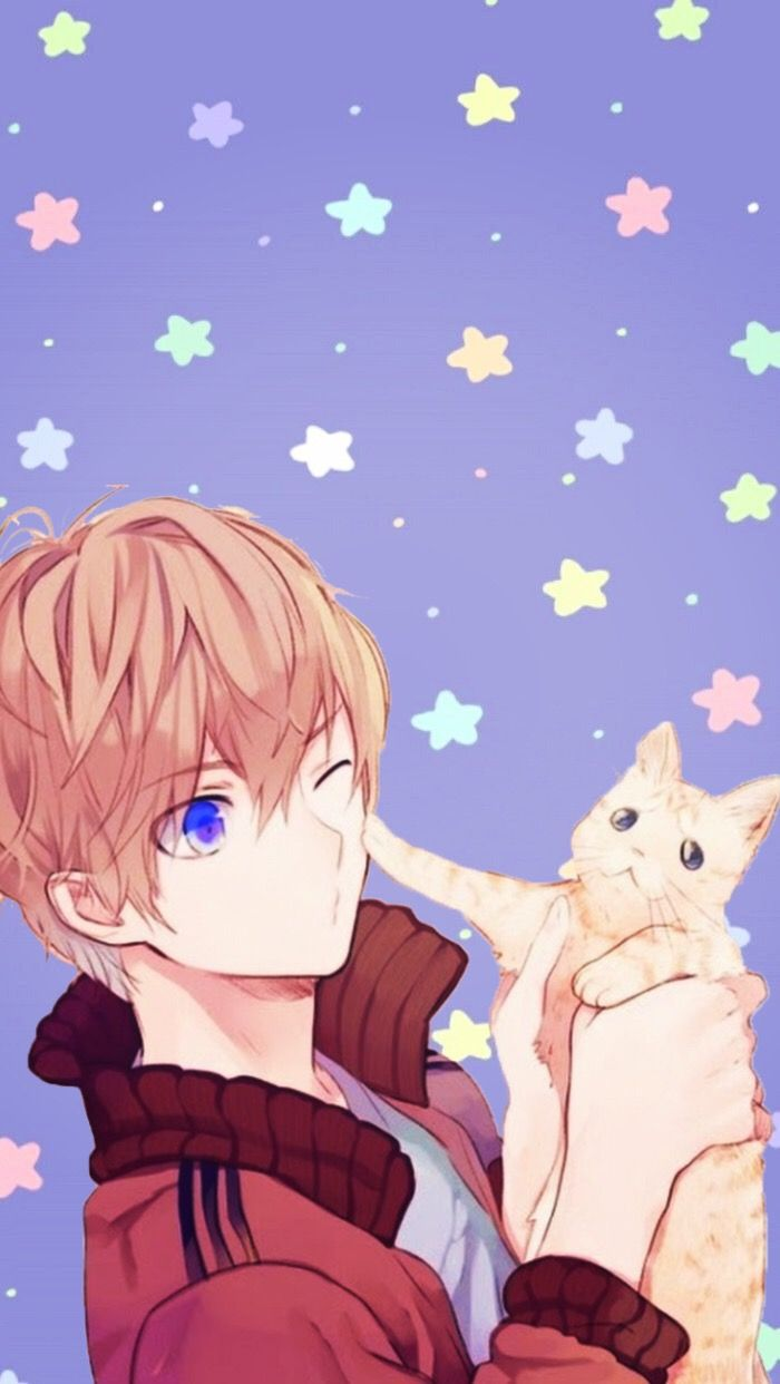 Anime Animeboy Animewallpaper Kawaii Cat Iphonewallpape