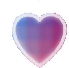 heart purple blue sticker love freetoedit