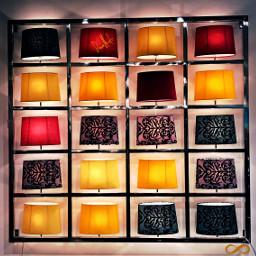 lamps decoration design colorful