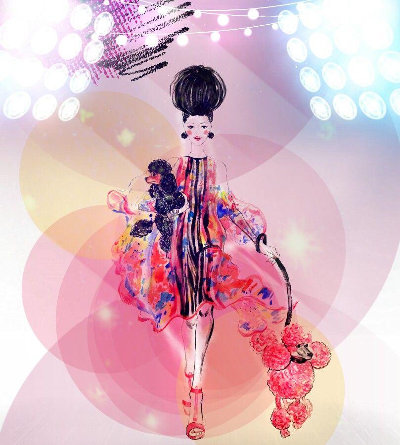 #freetoedit #woman #fashionart #runway #colorful #adjusttools #drawtools #layersonlayers #stickers #myedit #madewithpicsart