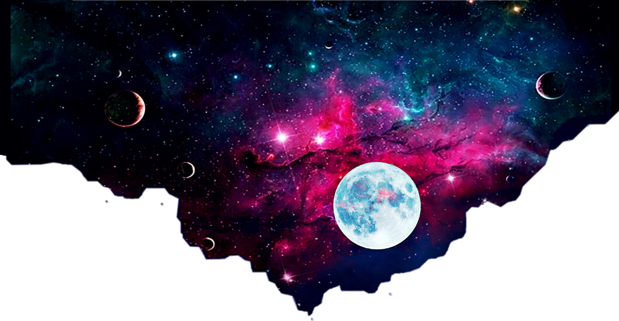#galaxy#space#moon#stars#night