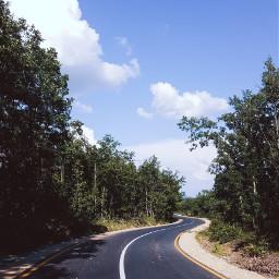 freetoedit road forest sky green blue