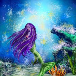 freetoedit mermaid ocean oceanworld beauty