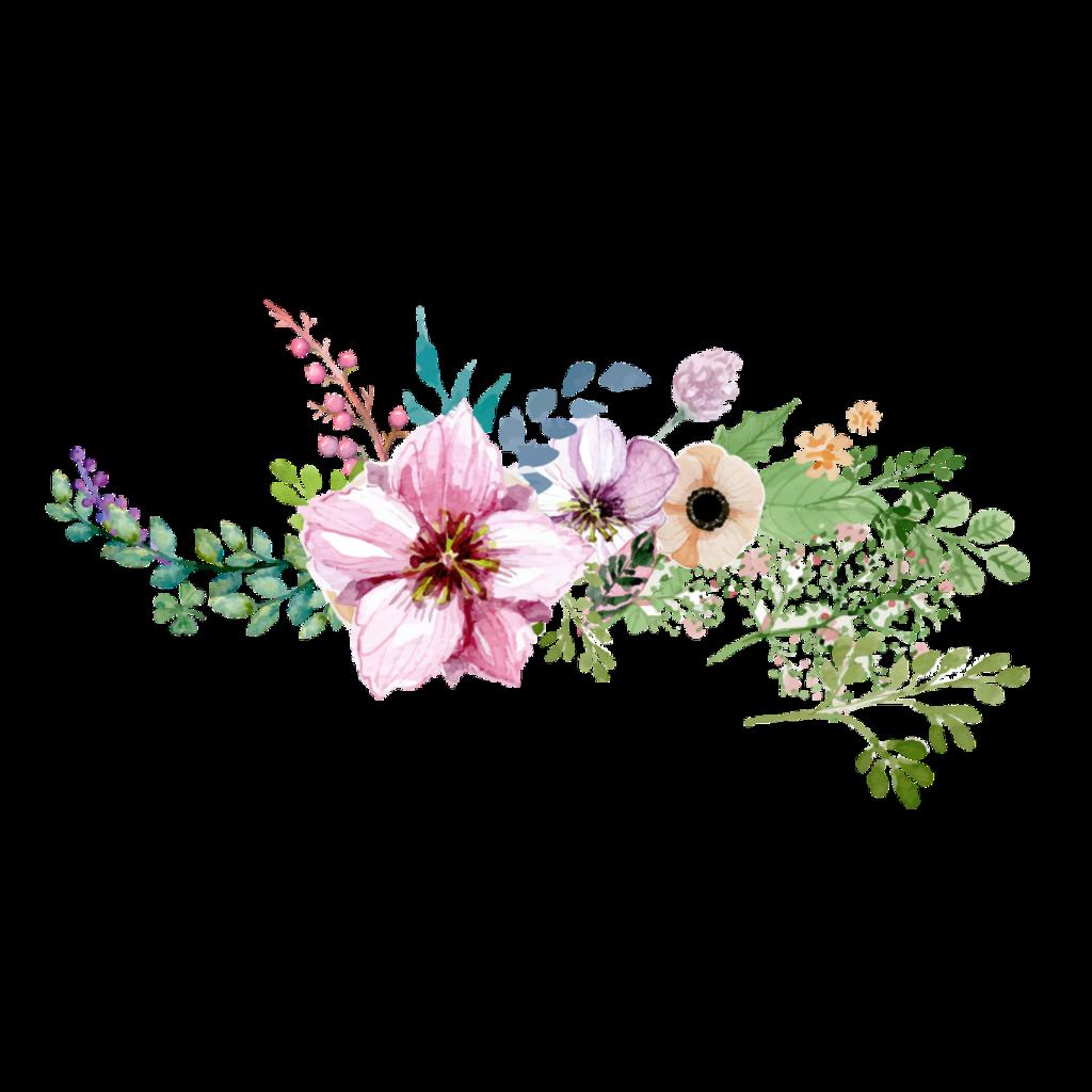 Flowers stickers transparent aesthetic cute filter flower garden