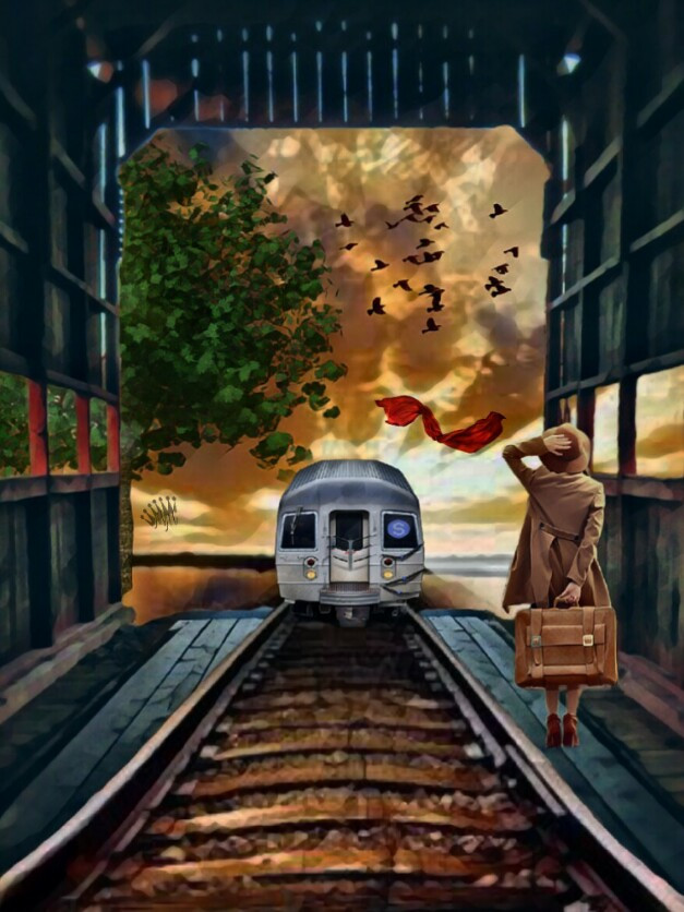 Happy New Week 😘my dear @picsart friends 🌞🍀  #freetoedit #vipshoutout #editedbyme #landscapes #train #trainway #imagination #art #artistic #madewithpicsart