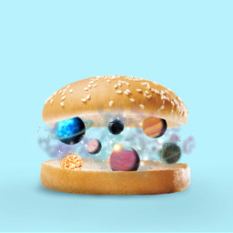 freetoedit galaxy burger irchamburgerbun hamburgerbun