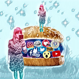 freetoedit fastfood socialnetwork remix