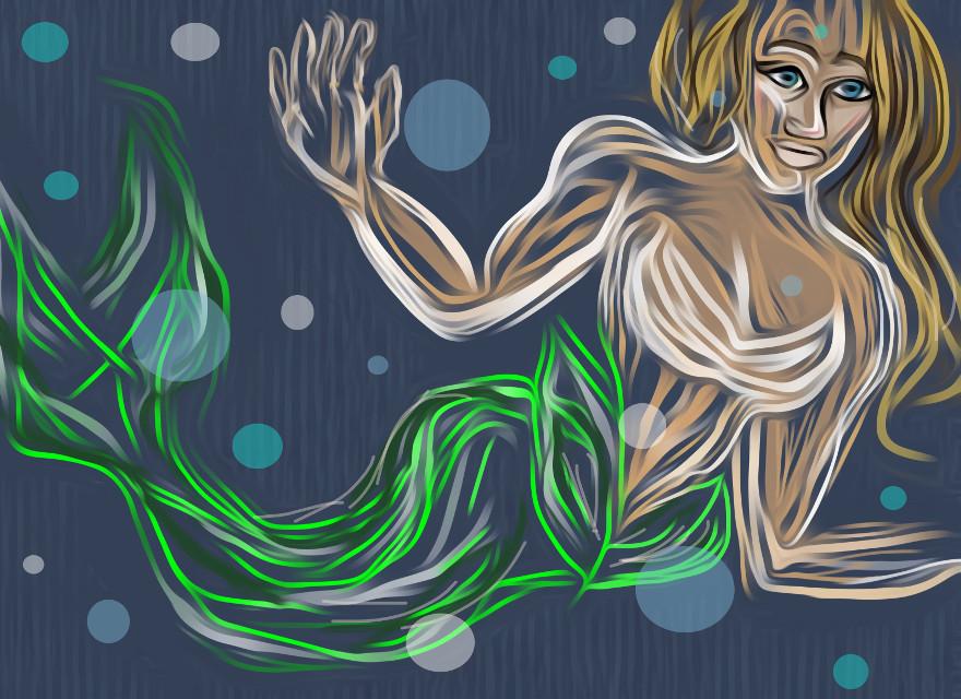 #freetoedit #mermaid #mydraw #mycolor #bubbles