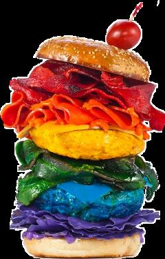 freetoedit burger scburger hamburger rainbow