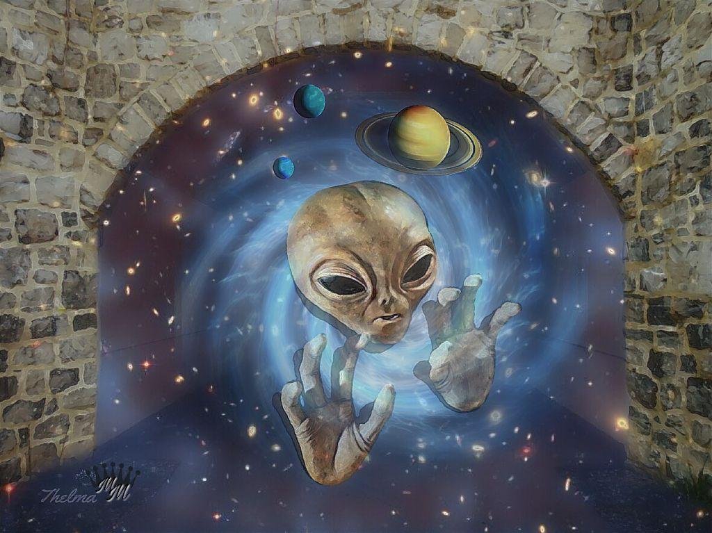 #freetoedit #vipshoutout #editedbyme #surrealistgate #imagination #galaxy #alien #doubleexposure #art #artistic #madewithpicsart