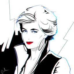 punksy artist painter illustrator princessdiana